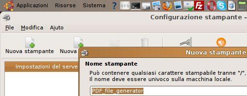 creare una stampante pdf