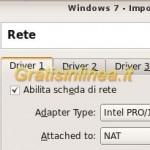 Windows 7: connessione internet su Virtualbox